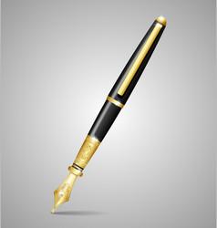 Luxury pen vector