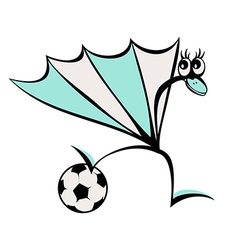Abstract Peacock with a soccer ball vector image