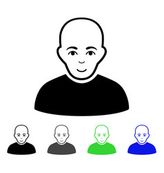Bald man flat icon vector
