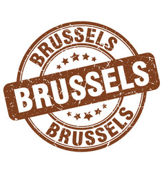 Brussels stamp vector