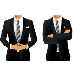 Business suit for men vector image