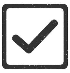 Checkbox icon rubber stamp vector