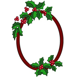 Christmas Holly banner vector image