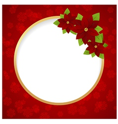 christmas label ring 01 vector image vector image