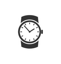 classic wristwatch icon vector image