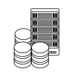 database optimization server banner icon vector image