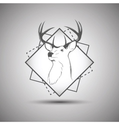 Deer head logo isolated on white background vector
