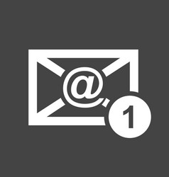 Email envelope message in flat style on black vector