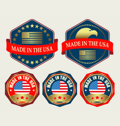 Emblem with us flag vector