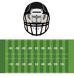 Field and helmet vector