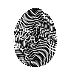 Finger print isolated icon vector