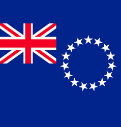 flag of the cook islands vector image vector image