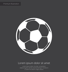 football ball premium icon white on dark backgroun vector image