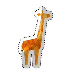 Giraffe low poly style vector