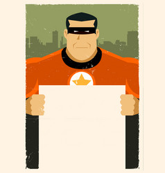 Grunge urban super hero ad sign vector