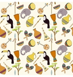 Hand-drawn seamless african pattern vector