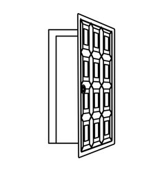 house door isolated vector image