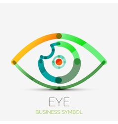 Humam eye company logo business concept vector image