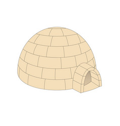 Igloo in light brown design vector