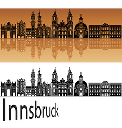 Innsbruck skyline in orange vector