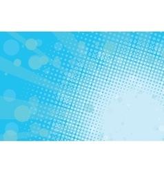 Light blue halftone retro background vector image vector image