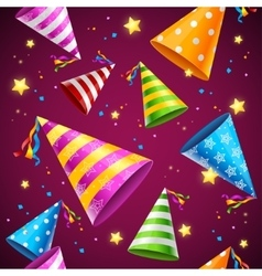 Party Hat Background Pattern vector image vector image