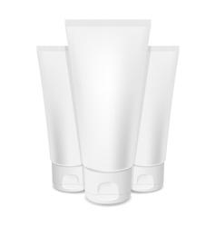 Photorealistic cream tubes vector image vector image