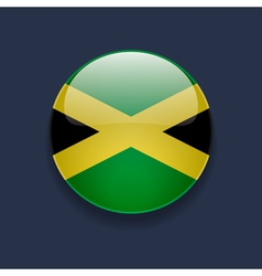 Round icon with flag of Jamaica vector image vector image