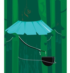 Rubber tree vector
