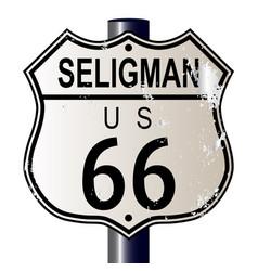 Seligman route 66 sign vector