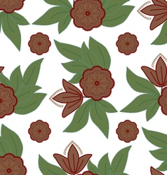 The pattern of leaves and flowers vector image vector image