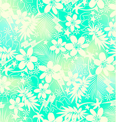 Tropical floral with love seamless pattern vector image