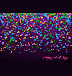 congratulations background with confetti vector image