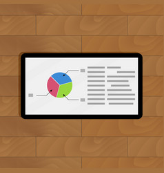 Pie chart on tablet vector