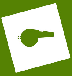 Whistle sign  white icon obtained as a vector