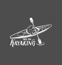 Vintage rafting labels vector