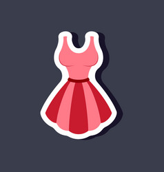paper sticker fashion clothes fluffy dress vector image