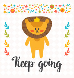 Keep going inspirational quote hand drawn vector