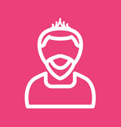 Man in punk hairstyle vector