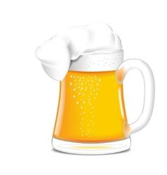 Single mug of beer vector image