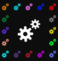 Cog settings cogwheel gear mechanism icon sign vector