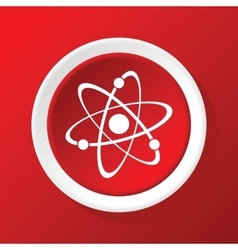 Atom icon on red vector