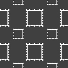 Photo frame template icon sign seamless pattern on vector
