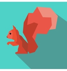 Squirrel abstract vector