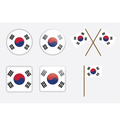 badges with flag of South Korea vector image