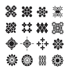 Arabic ornament icon set vector