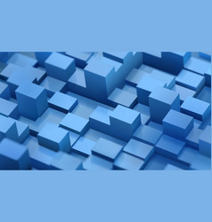 abstract background of defocused cubes vector image vector image