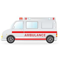 ambulance car silhouette on white background vector image vector image