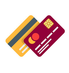 banking or debit plastic card with shadow isolated vector image