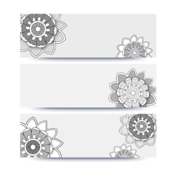 banner with flowers vector image vector image